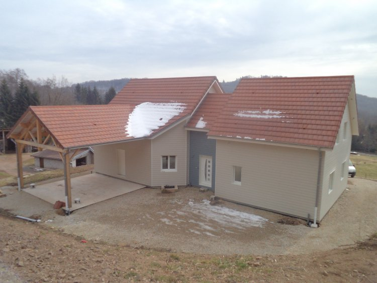 Maison ossature bois Doubs 25 Anteuil